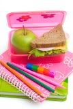 Almoço de escola Fotografia de Stock