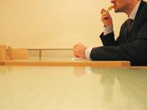 Almoço de negócio rápido Foto de Stock