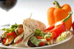 Almoço de Pita Imagens de Stock Royalty Free