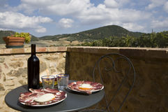 Almoço de Tuscan Foto de Stock Royalty Free