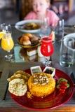 Almoço delicioso imagens de stock royalty free