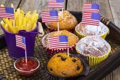 Almoço Dia da Independência o 4 de julho Imagens de Stock