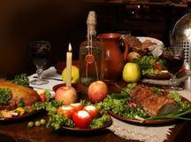 Almoço do cavaleiro fotografia de stock