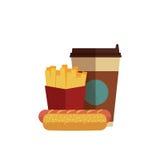 Almoço do fast food Foto de Stock
