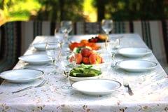 Almoço do verão fora Imagem de Stock