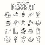 Almoço doce do café da manhã da manhã do deserto do alimento ou Fotos de Stock Royalty Free
