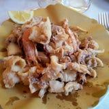 Almoço dos peixes Fotos de Stock