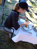 Almoço exterior Foto de Stock Royalty Free