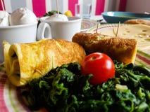 Almoço italiano do vegetariano com produtos locais Fotos de Stock Royalty Free