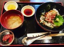 Almoço japonês foto de stock royalty free