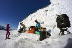 Almoço na montanha Pip Ivan Imagem de Stock