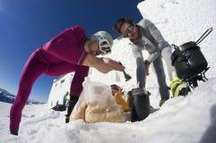 Almoço na montanha Pip Ivan Foto de Stock