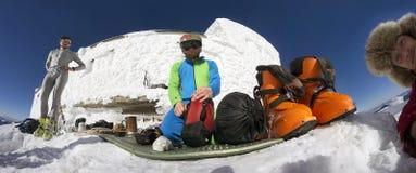 Almoço na montanha Pip Ivan Fotos de Stock