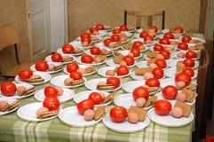 Almoço no acampamento Imagens de Stock Royalty Free