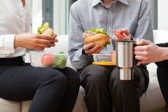 Almoço no escritório Imagem de Stock
