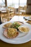 Almoço no restaurante extravagante scal Imagem de Stock Royalty Free