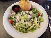 Almoço saudável da salada de Cobb fotografia de stock royalty free