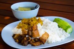Almoço tailandês do grupo Fotografia de Stock Royalty Free
