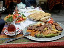 Almoço turco Fotografia de Stock