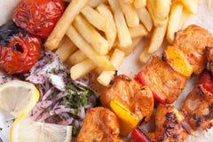Almoço turco do donner foto de stock