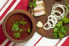 Almoço ucraniano tradicional Fotografia de Stock Royalty Free