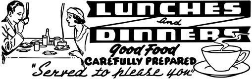 Almoços e jantares ilustração royalty free