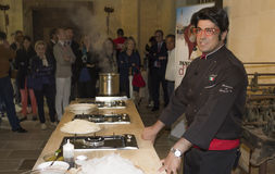 Almo bibolotti show cooking Stock Image