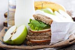 Almoce ou tome o café da manhã para ir Imagens de Stock
