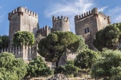 It is a fortitude of Moslem origin, it was a Roman fort. Almodovar del Rio, Córdoba, Spain - June 9, 2018: It is a fortitude of Moslem origin, it was a Roman royalty free stock photos