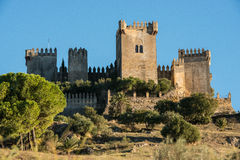 Almodovar del Rio castle, Spain. Image of medieval castle at Almodovar del Rio, Cordoba, Andalusia, Spain Royalty Free Stock Photos