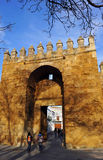 Almodovar Gate, medieval walls of Cordoba, Spain Stock Images