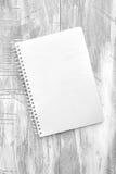 Almofada de escrita do caderno Fotos de Stock Royalty Free