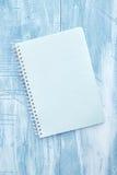 Almofada de escrita do caderno Imagem de Stock Royalty Free