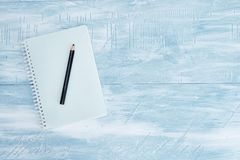 Almofada de escrita do caderno Imagens de Stock
