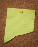 Almofada de nota amarela Fotos de Stock Royalty Free