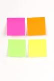 Almofada de nota da cor Fotos de Stock