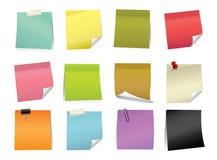 Almofada de nota da cor do vetor Fotos de Stock