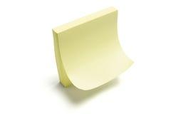 Almofada de nota do post-it Imagens de Stock