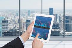 Almofada de toque com gráficos Fotografia de Stock