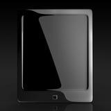 Almofada de toque elegante preta da tabuleta Ilustração Stock