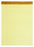 Almofada legal alinhada amarelo Fotos de Stock Royalty Free