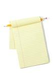 Almofada legal com lápis Imagem de Stock Royalty Free
