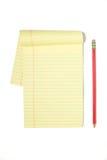 Almofada legal com lápis vermelho Imagens de Stock
