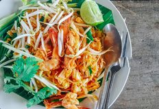 Almofada tailandesa do alimento tailandesa Foto de Stock Royalty Free
