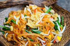 Almofada tailandesa, macarronete fritado tailandês Fotografia de Stock Royalty Free
