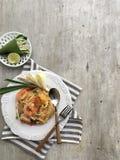 Almofada tailandesa na tabela fotos de stock royalty free