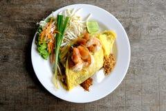 Almofada tailandesa tailandesa, pratos do alimento do nacional do ` s de Tailândia fotos de stock