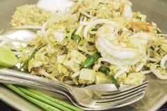Almofada tailandesa tailandesa, macarronetes do alimento da fritada da agitação no estilo do padthai Imagem de Stock