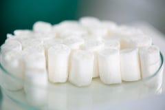 Almofadas de algodão dentais Imagem de Stock Royalty Free