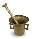 Almofariz de bronze velho Foto de Stock Royalty Free